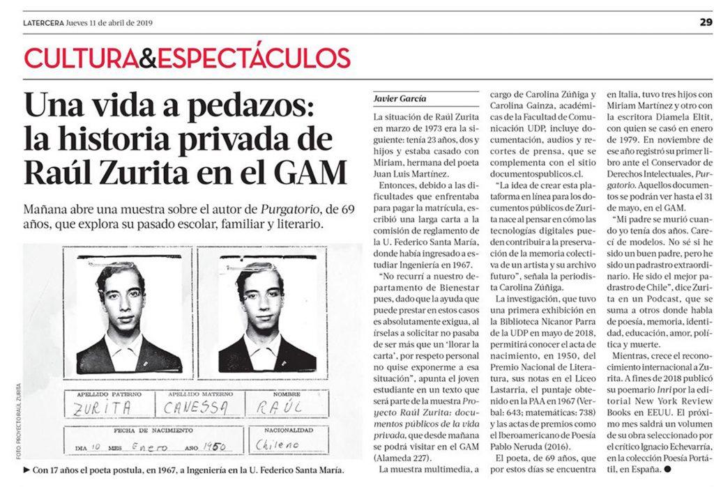 Documentos Públicos Raúl Zurita
